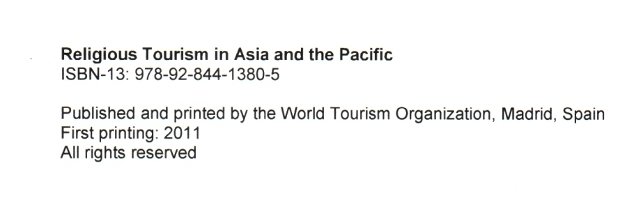 my paper in unwto religious tourism in asia report